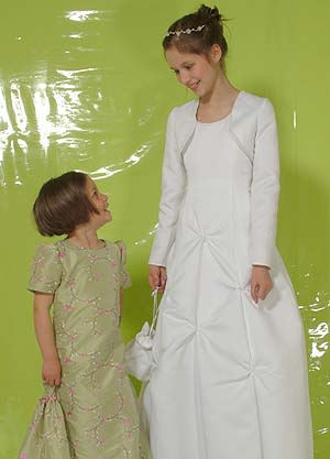 Flower girl and communion dress